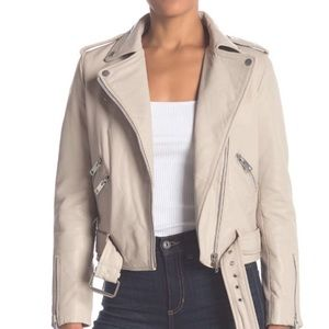 Genuine leather motto jacket